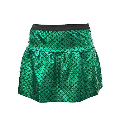 dcf3bfda4ffc Amazon.com: ROCK Green Mermaid Skirt with Hologram Scales| Mermaid ...