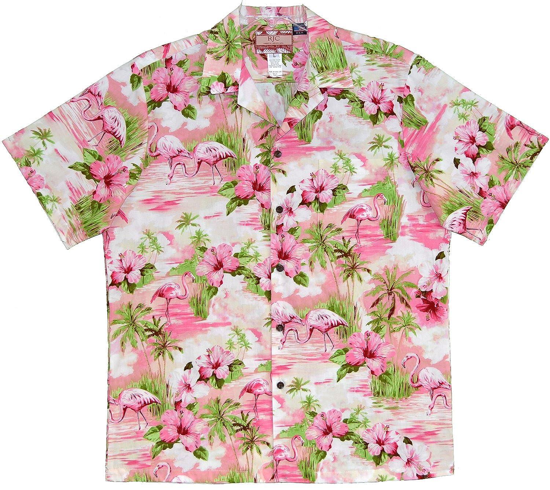 RJC Mens Soft Pink Flamingo Shirt
