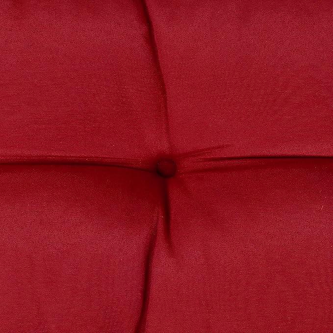 Beautissu Cojines para palés Eco Style - Cojín de Respaldo 120x40x10-20 cm : Rojo - Cojín: Respaldo (1 Pieza)