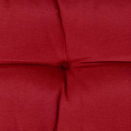 Beautissu Cojines para palés Eco Style - Cojines de Apoyo 2X 60x40x10-20 cm : Rojo - Cojín: Apoyo (2 Piezas)