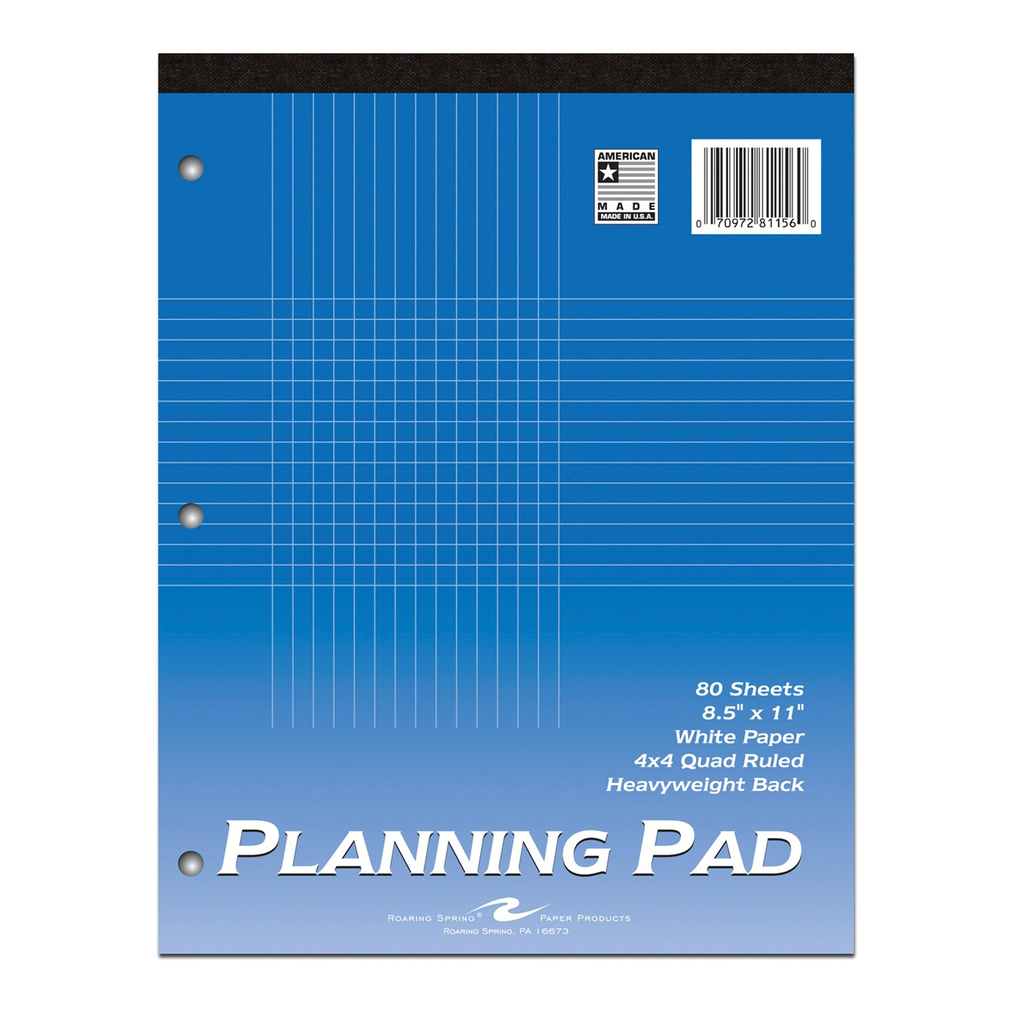 Roaring Spring Planning Pad, 8.5'' x 11'', Graph Ruled, 80 sheets by Roaring Spring Paper Products