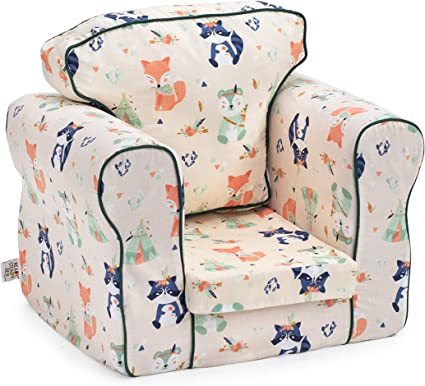 Champion Comfy Children Furniture Soft Child Safe Seat Playroom Sofa Ready Steady Bed Upholstered Kids Toddler Armchair Ergonomically Designed Chair