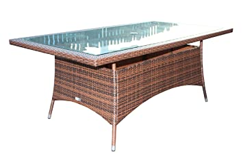 Rattan Dining Furniture Outdoor Garden Furniture Cambridge Dining Table Inc Free Luxury Outdoor Cover
