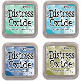 Ranger Tim Holtz Distress Oxide Ink Pads - Cracked Pistachio, Broken China, Faded Jeans and Peeled Paint