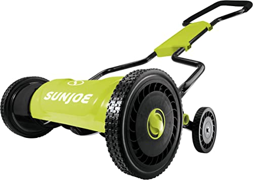 Sun Joe MJ1800M 18 inch 5 Height Positions Quad-Wheel Manual Mower