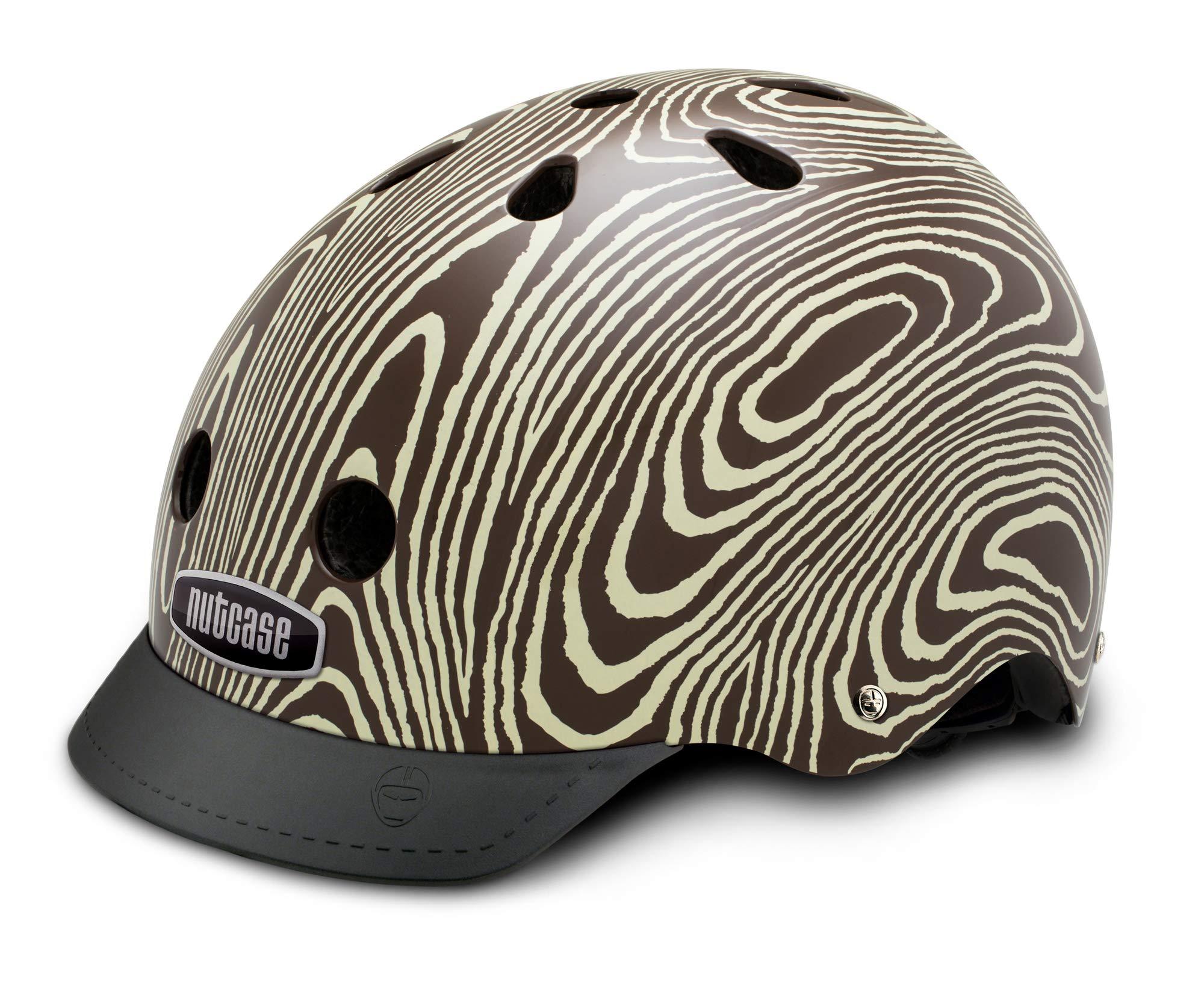Nutcase - Patterned Street Bike Helmet for Adults, Tree Hugger, Large
