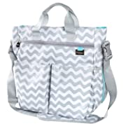 Premium Diaper Bag by Liname with BONUS Changing Pad & eBook – Premium Quality, Stylish & Gender Neutral Design for the Modern Parent – 13 Roomy Pockets for Complete Organization