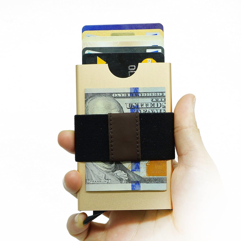 Smart Minimalist Wallet Slim RFID Blocking Credit Card Holder Pop Up Wallet CXStore