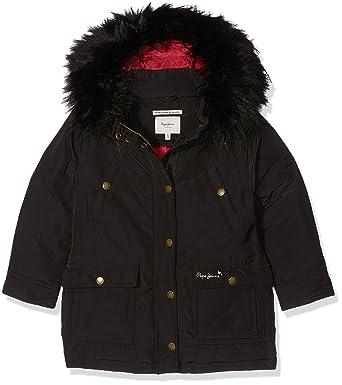 Jr Noir 12 Manteau Fille Pepe Ans Jeans June Pg400634 waCEUFq