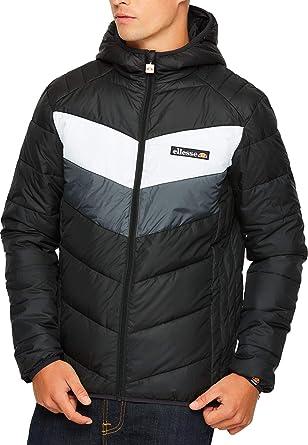 Ellesse GINAP Jacket - Chaqueta, Hombre, (Black/White/Grey)