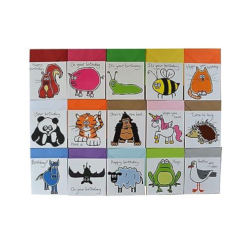 15 X Animal Birthday Cards BUMPER Card Pack