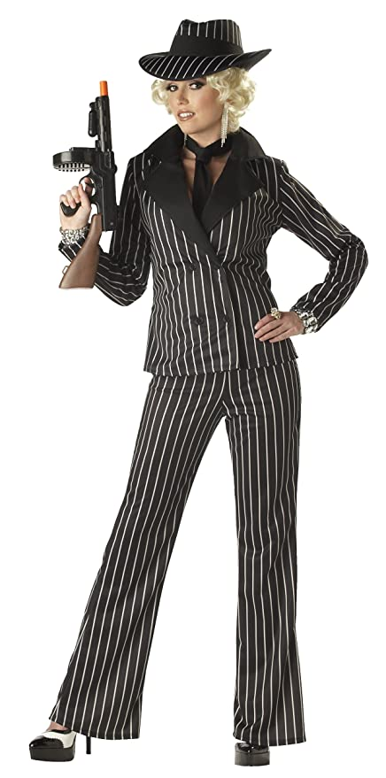 1930s Costumes- Bride of Frankenstein, Betty Boop, Olive Oyl, Bonnie & Clyde  Womens Gangster Lady Costume $27.71 AT vintagedancer.com