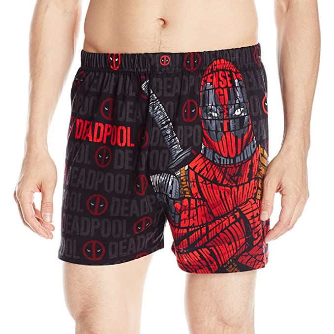 Marvel Comics Deadpool Knit Boxers Amazon Clothing Accessories