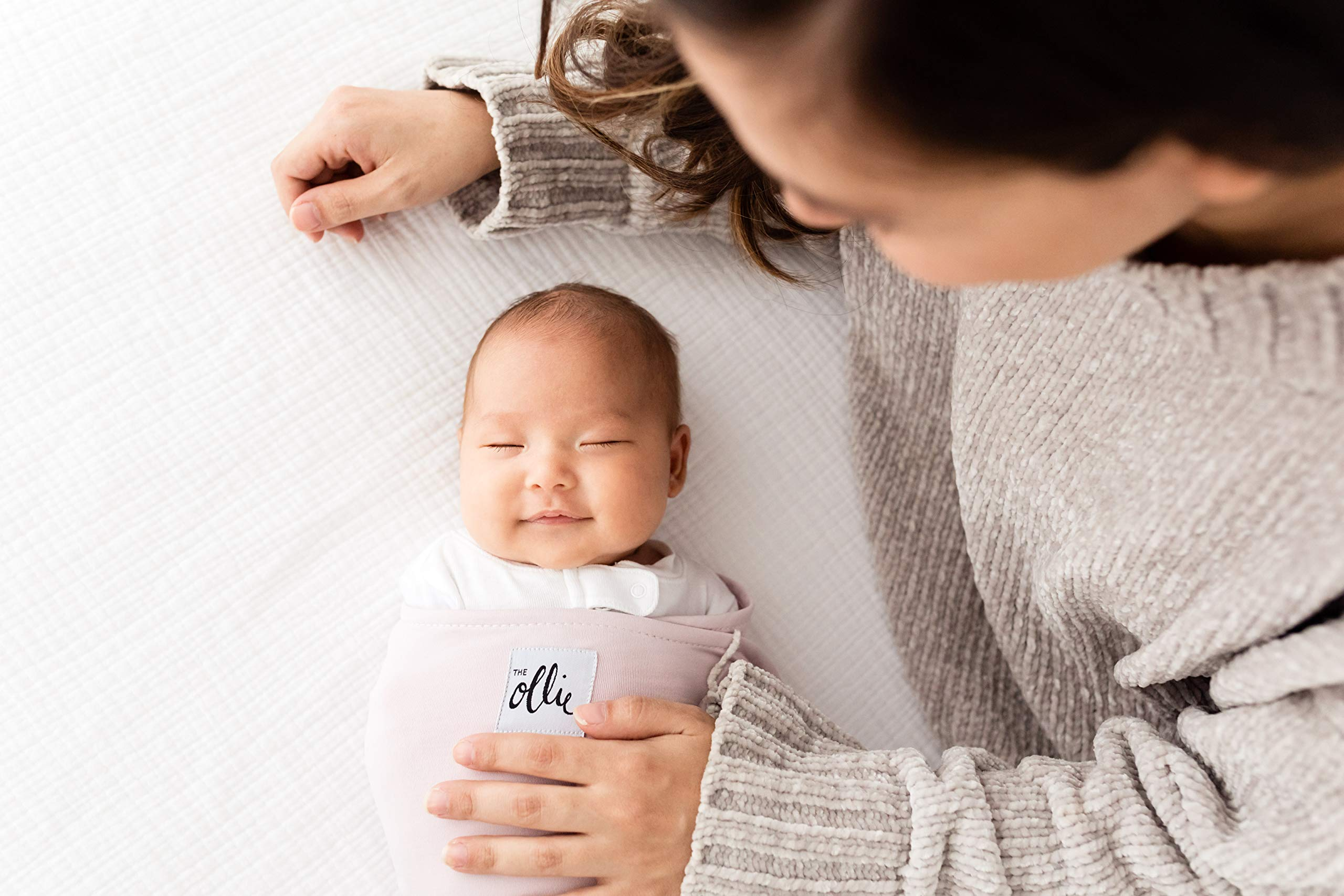 The Ollie Swaddle (Lavender) - Helps to Reduce The Moro (Startle) Reflex - Made from a Custom Designed Moisture-Wicking Material-No overheating-Size Adjustable for All Months of Babies by The Ollie (Image #4)