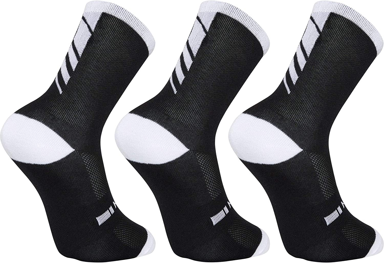 white medium 40-42 Madison Freewheel coolmax long sock triple pack
