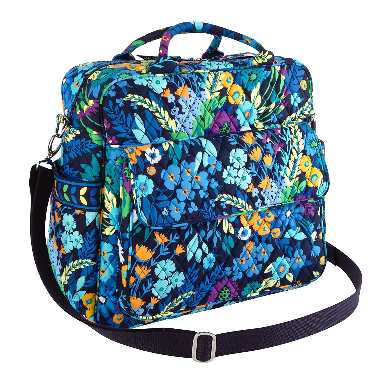 Amazon.com : Vera Bradley Convertible Baby Bag in Midnight Blues ... : quilted bags like vera bradley - Adamdwight.com