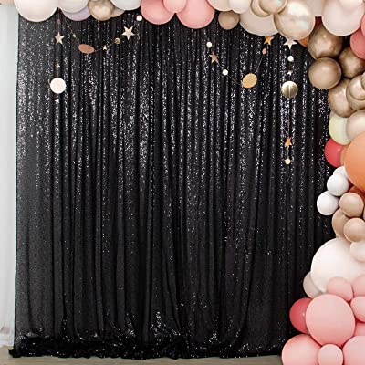 4FTx7FT Iridescent Sequin Backdrop Wedding Festival Photo Booth Backdrop Curtain