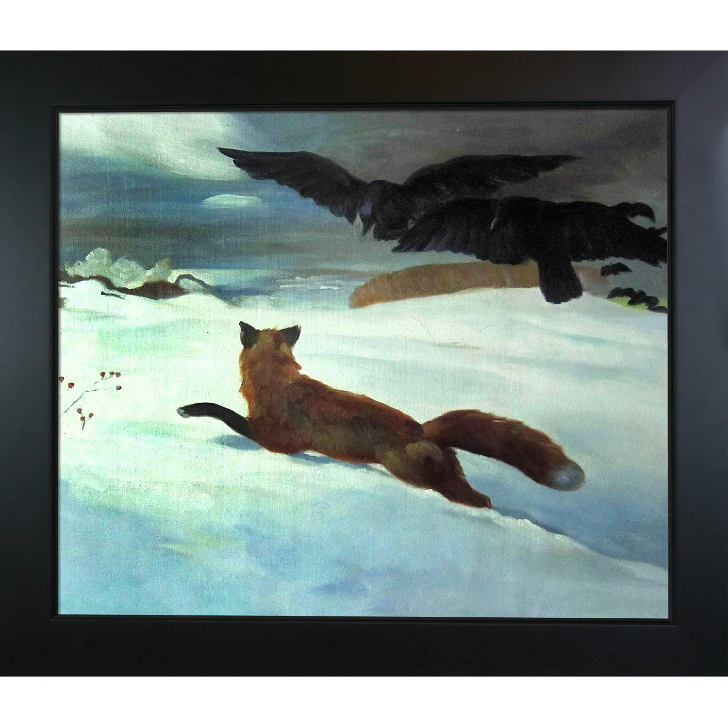 overstockArt Homer The Fox Hunt Framed Oil Reproduction of an Original Painting by Winslow Homer