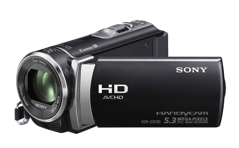 amazon com sony hdr cx190 high definition handycam 5 3 mp rh amazon com