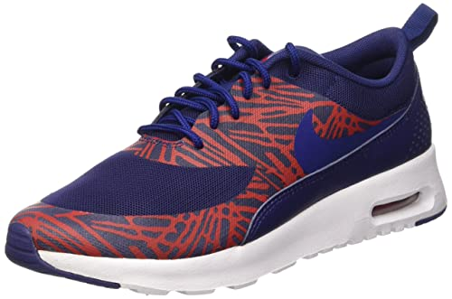 nike air max thea print baskets basses femme bleu