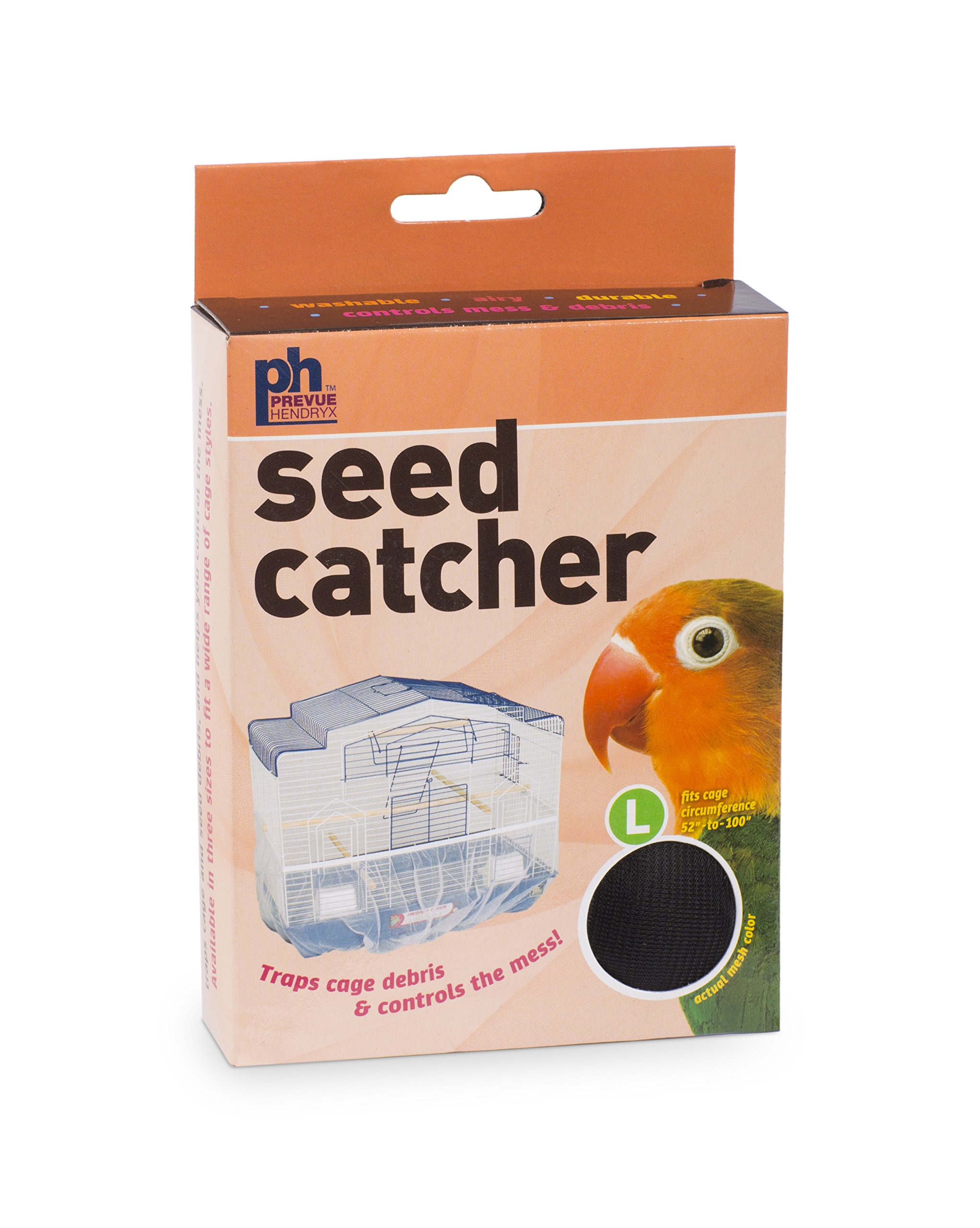 Prevue Pet Products 822B Mesh Bird Seed Catcher, Black, Large/13