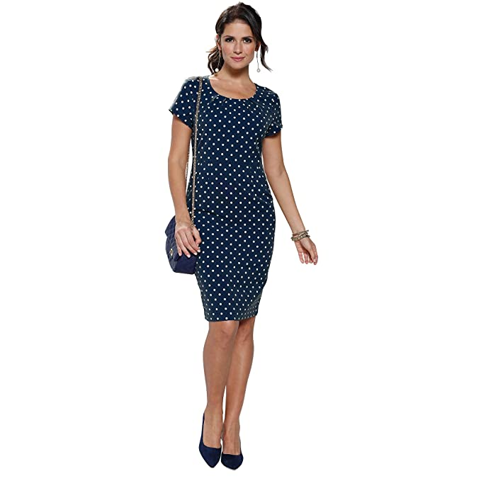 VENCA Vestido Estampado Pinzas en el Escote Redondeado y Espalda Mujer by Ve - 013999,