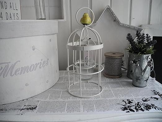 673 * Farol jaula té luz vela Soporte Jaula Pájaro Decoración ...