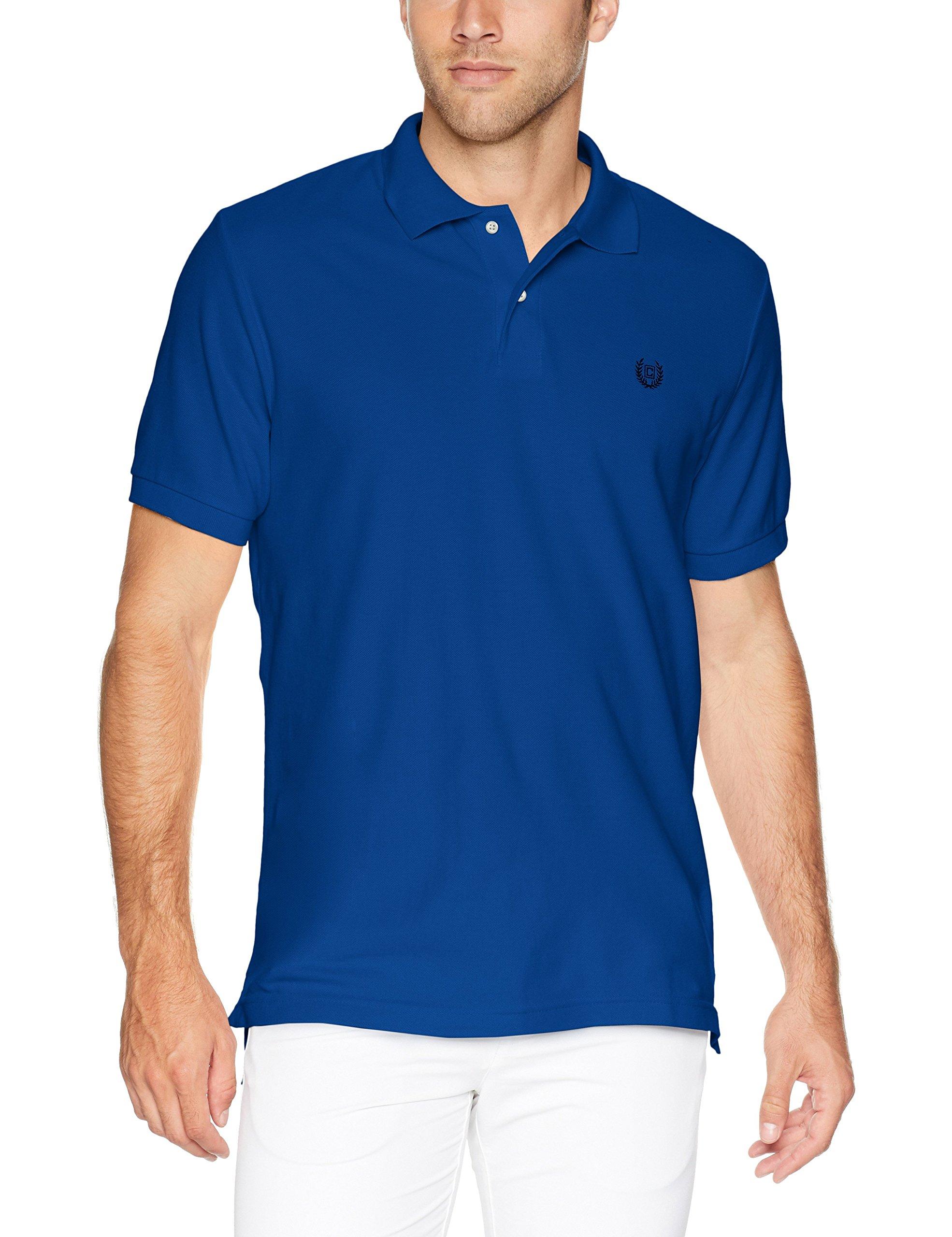 Chaps Mens Classic Fit Printed Cotton Mesh Polo Shirt