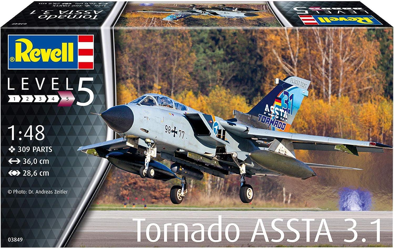 Revell 03849 Tornado ASSTA 3.1 originalgetreuer Modellbausatz f/ür Experten unlackiert