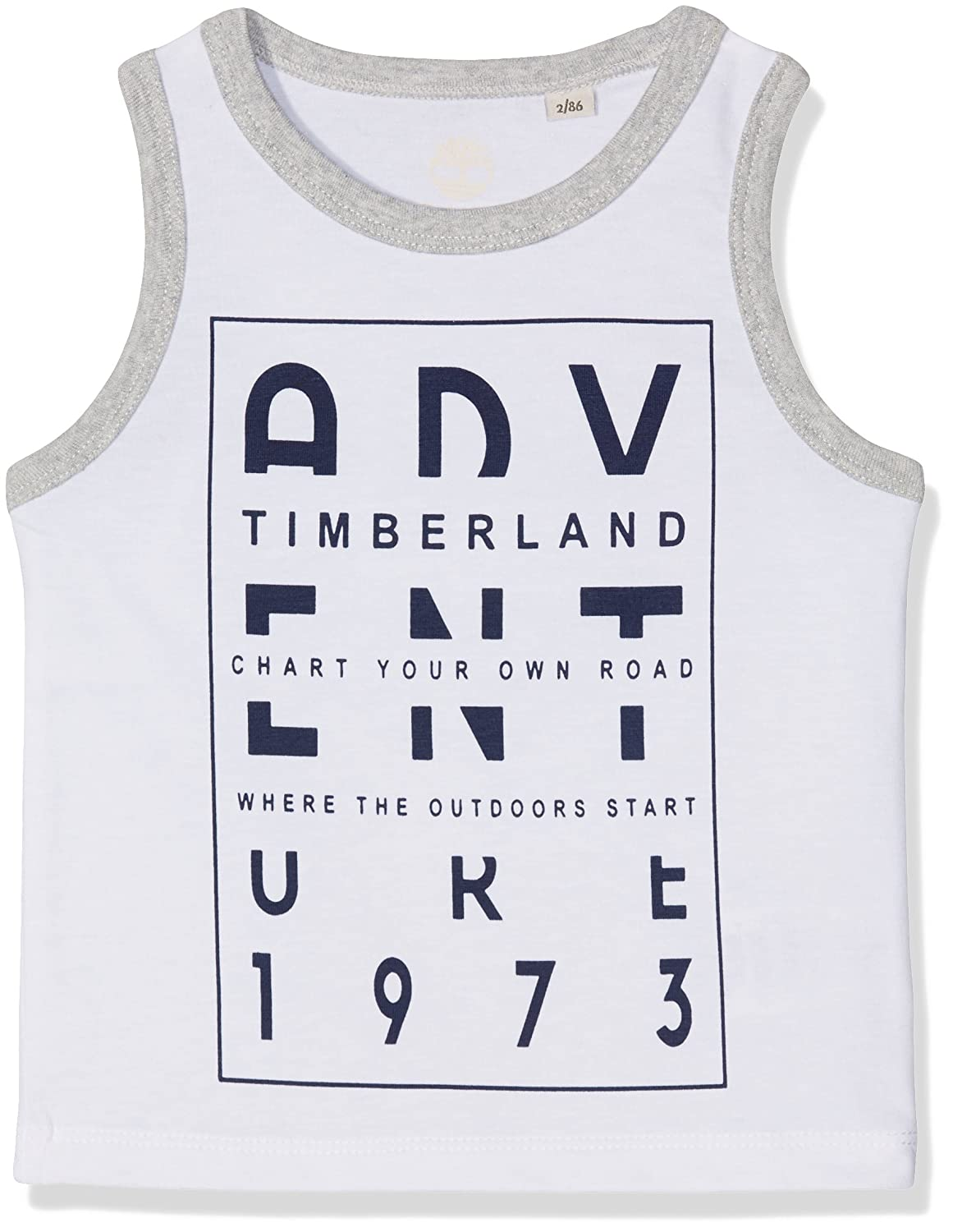 Timberland Baby Boys' Tank Top White (Blanc) 0-6 (Sizes: 6 Months) T05G36