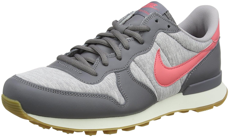Nike Damen Wmns Internationalist Laufschuhe, Schwarz Mehrfarbig (Gunsmoke / Sea Coral 020)