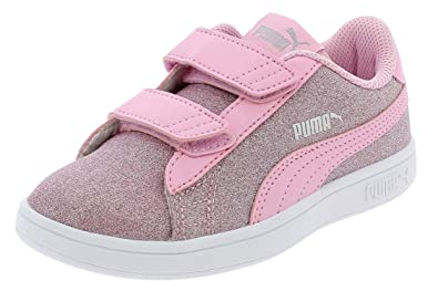 1a233ad88c53 Puma Smash V2 Glitz GLAMV PS Chaussures DE Sport Fille Rose 36737812