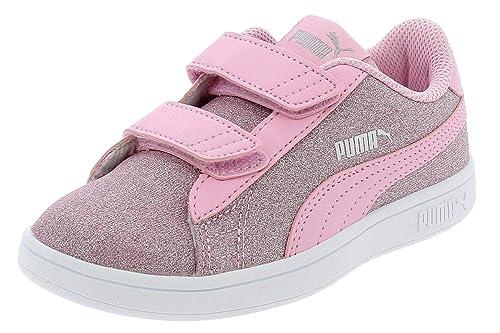 grand choix de d7798 2b188 Puma 367378-12, Baskets pour Fille Rose Rosa/Argento: Amazon ...