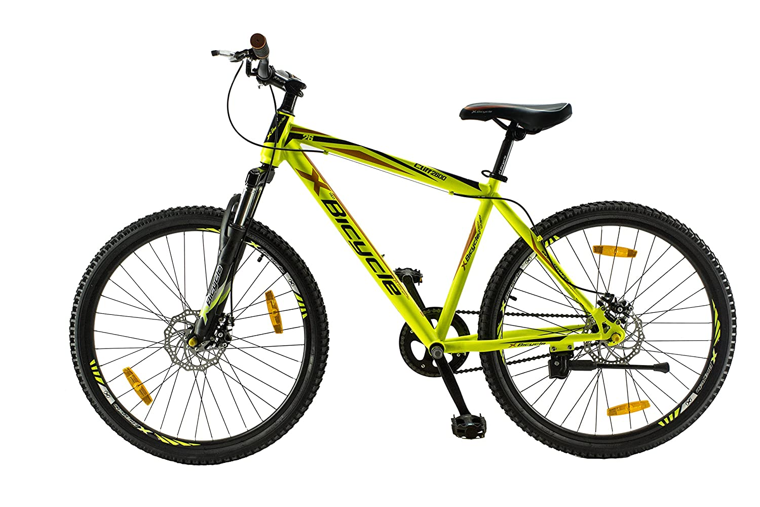 X BICYCLE Cliff 26 Inches Single Speed Neon Yellow