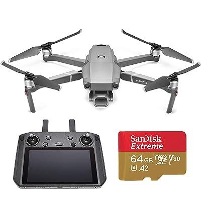 DJI Mavic 2 Pro Drone Quadcopter with Smart Controller, Starter Bundle, 64GB SD Card: Electronics