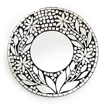 Feng Shui Spiegel feng shui spiegel dekospiegel zara ø 30cm rund aus holz mit spiegel