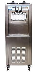 Commercial 2 Flavor and Twist Soft Serve Ice Cream / Frozen Yogurt / Gelato / Sorbet Machine - 50 Quarts/Hour
