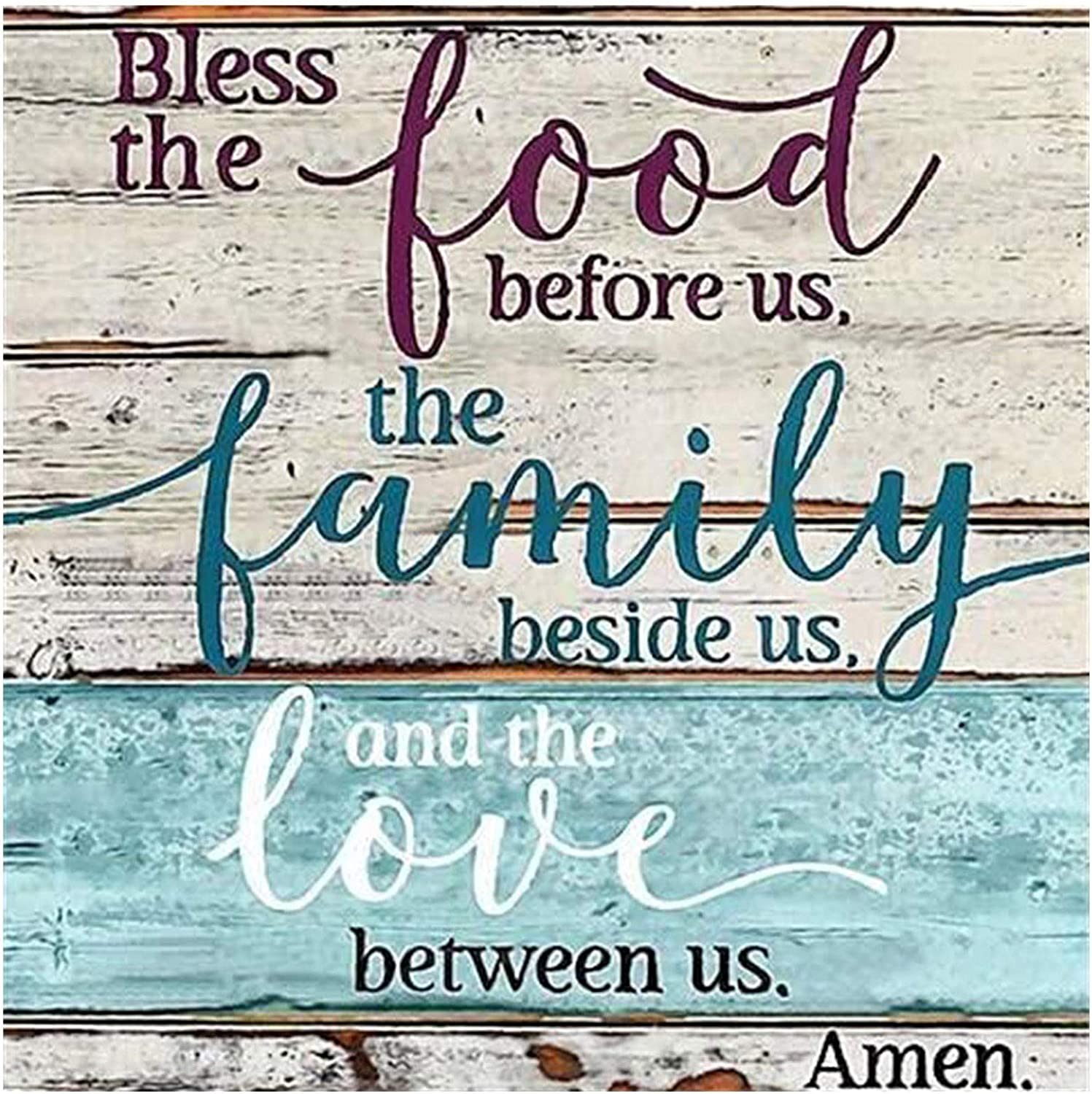 Theoylos Diamond Painting, Bless The Food Before us The Family Beside us and The Love Between us Amen Room Decor Wall Decor Home Decor Wall Art Gift 12