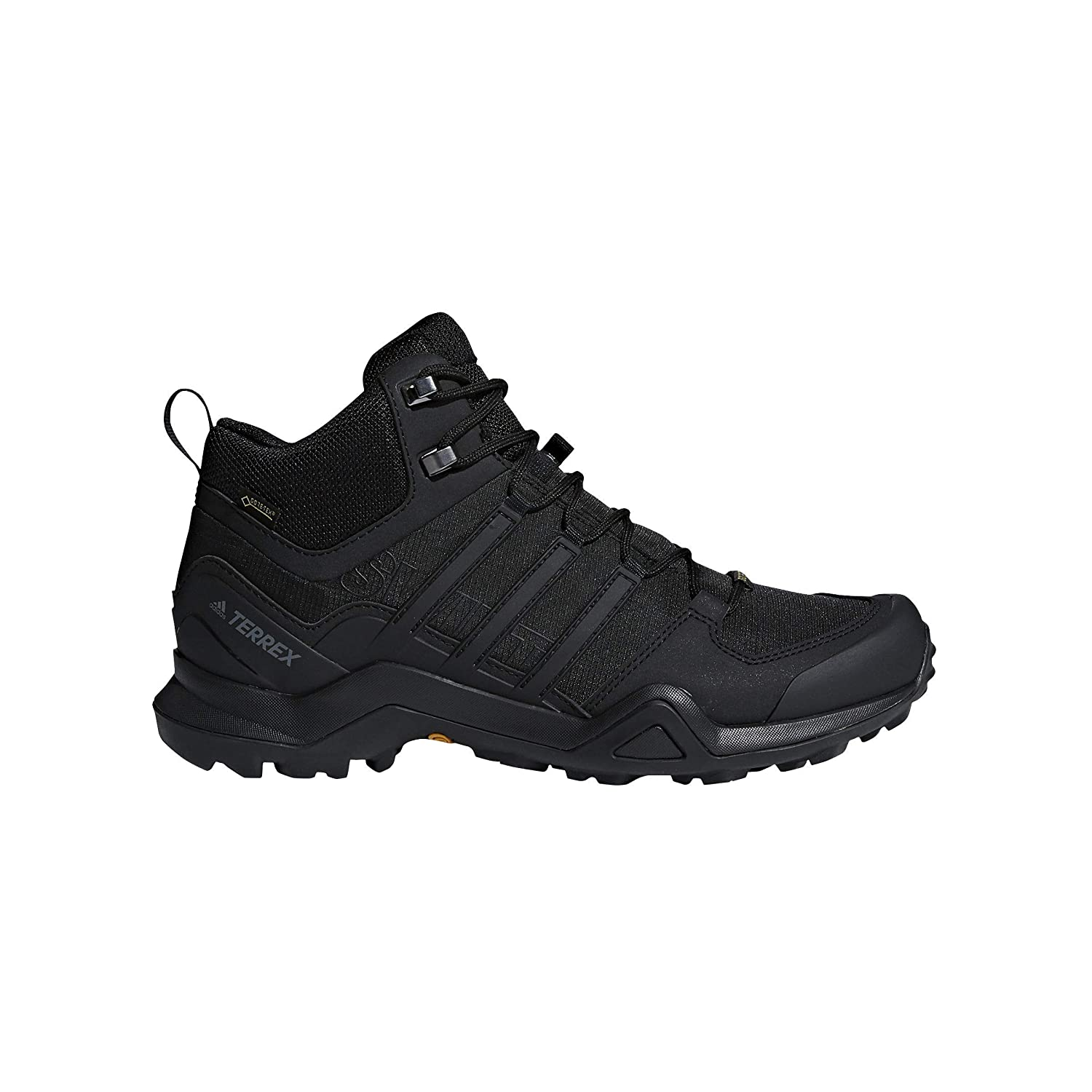 adidas Mens Terrex Swift R2 Mid GTX Shoe (11 - Black/Black/Black)