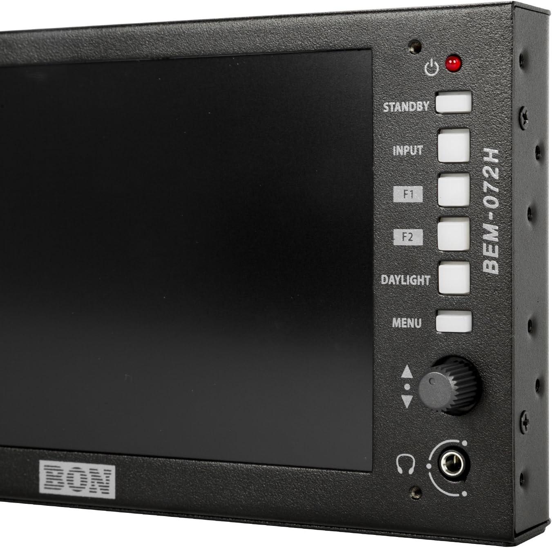 Bon Ikan 7 High Brightness 3G//HD//SD-SDI /& HDMI Full HD On-Camera Field Monitor BEM-072H
