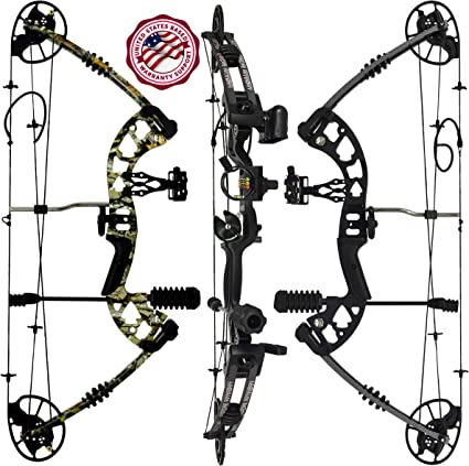 Amazon Com Predator Archery Raptor Compound Hunting Bow Kit Limbs Made In Usa Fully Adjustable 24 5 31 Draw 30 70lb Pull Up To 315 Fps Guarantee 5 Pin Lighted Sight