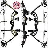 "Predator Archery Raptor Compound Hunting Bow Kit: Limbs Made in USA | Fully Adjustable 24.5-31"" Draw 30-70LB Pull 