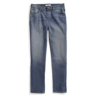 0935379c Tommy Hilfiger Men's Adaptive Jeans Relaxed Fit Adjustable Waist Magnet  Buttons, Medium wash 31