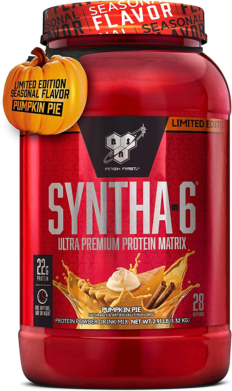 Amazon Com Bsn Syntha 6 Whey Protein Powder Micellar Casein Milk Protein Isolate Pumpkin Pie 28 Servings Packaging May Vary Health Personal Care