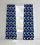 Catherine Lansfield Parure de lit pour enfant Motif football, bleu, Curtains