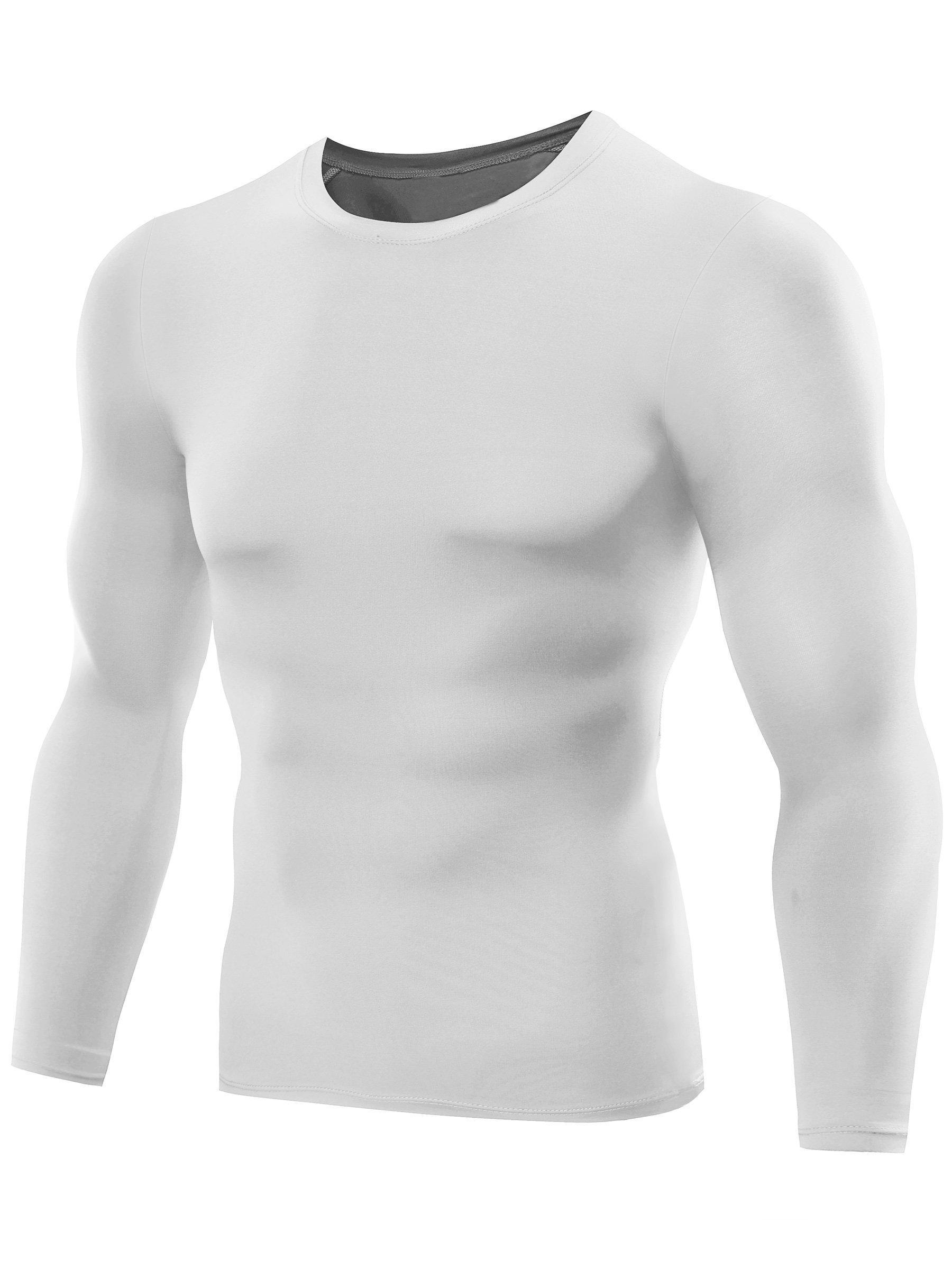 b58e8f534387 Neleus Men's Dry Fit Athletic Shirts 3 Pack,5021,White,US L,EU XL -  DT5021W+W+WXL#3 < Compression Tops < Sports & Outdoors - tibs