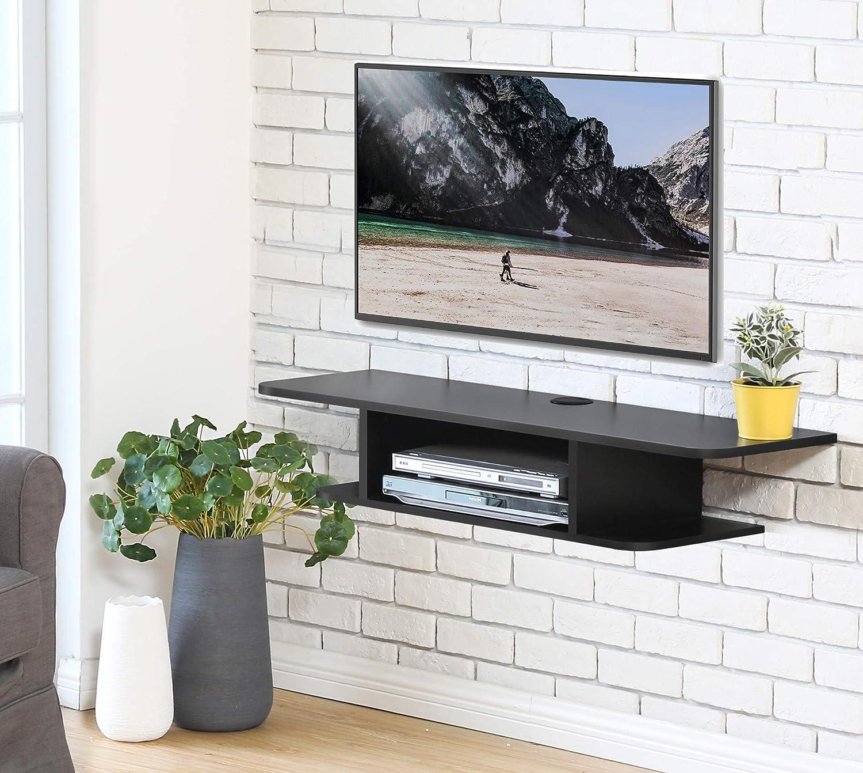 FITUEYES Madera Grano Mesa Flotante para TV Mueble para TV ...