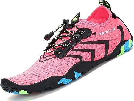 Material exterior: Poliéster + spandex. Es por eso que los zapatos se secan muy rápido.,Revestimient