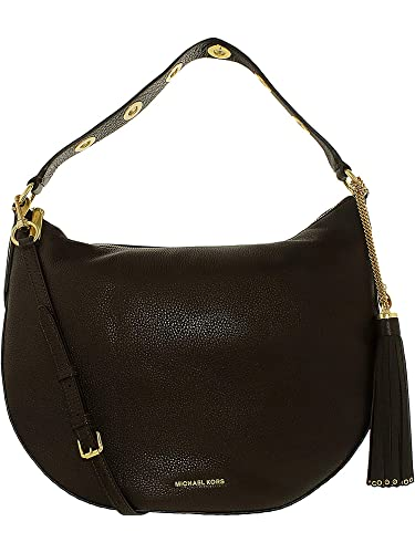 5a99f892ee39e8 Michael Kors Brooklyn Large Convertible Leather Hobo - Coffee -  30F6ABNH3L-217