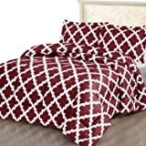 Utopia Bedding Printed Comforter Set (Queen/Full, Red) with 2 Pillow Shams - Luxurious Brushed Microfiber - Down…